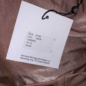 Missguided Tops - Slinky rose gold crop hoodie